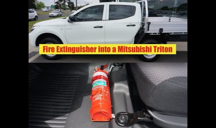 Mitsubishi Triton Fire Extinguisher Bracket